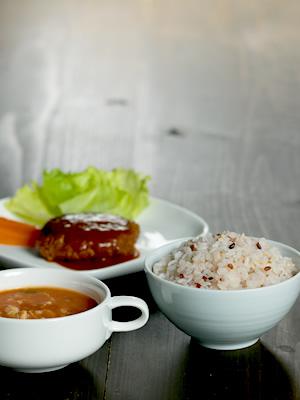MIZUMAの雑穀米やスープ