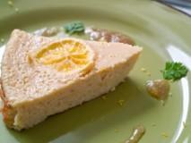 爽やかニューサマーオレンジのミレットチーズケーキ