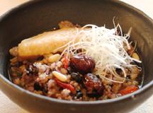 五穀米の参鶏湯風粥