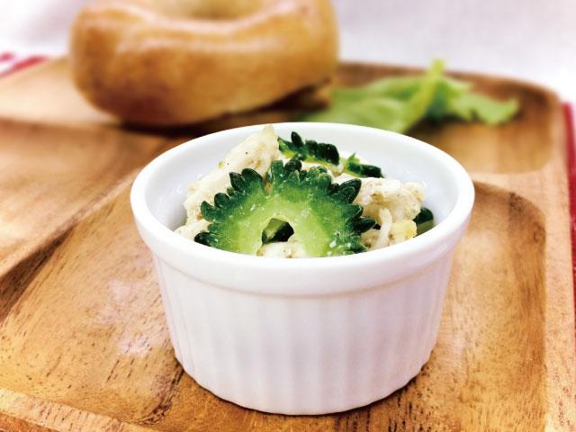 豆腐とゴーヤのサラダ640×480