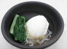 小松菜と豆腐のしらすあんかけ